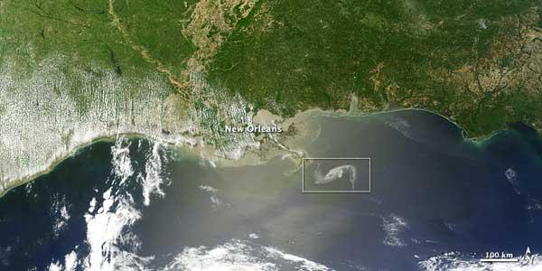 mancha petróleo Louisiana, Missisipi 29-4-2010