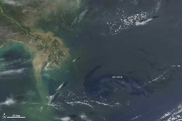 mancha petróleo Louisiana