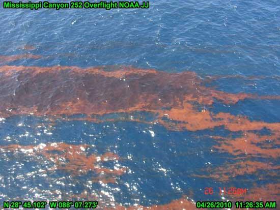 manchas de óxido del petróleo