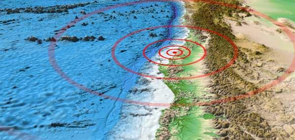 mapa 3D epicentro del terremoto chile febrero 2010