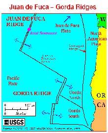 mapa fosa de juan de Fuca