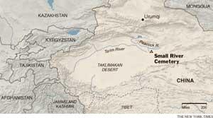 mapa cementerio Río Pequeño, Xinjiang - China