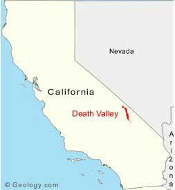 mapa Valle de la Muerte