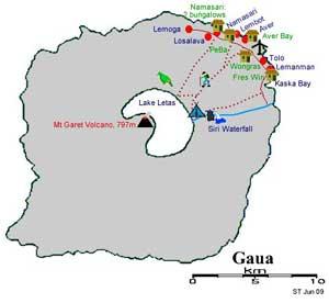 mapa Vanuatu