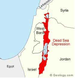 Mar Muerto, mapa situación