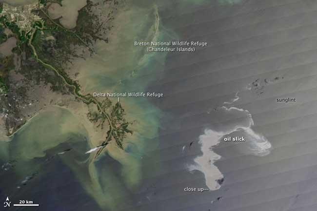 nasa derrame petroleo Deepwater Horizon, Golfo México