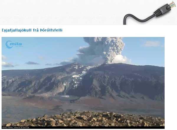nueva webcam del volcán Eyjafjallajokull