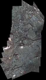 placa de asfalto de un volcán submarino