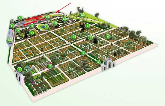 plano Real Jardín Botánico