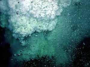 respiradero volcánico submarino