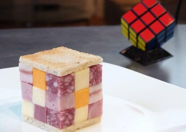 sándwich cubo de Rubiks