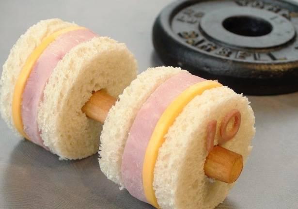 sándwich gimnasio