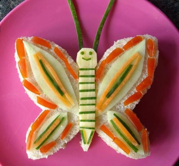 sándwich mariposa