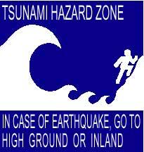 señal de peligro de tsunami