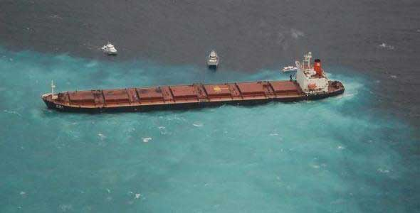 Shen Neng 1, derrane petroleo Gran Barrera Coral