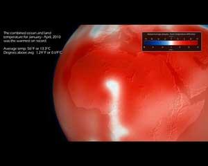 Tierra, temperaturas más calientes