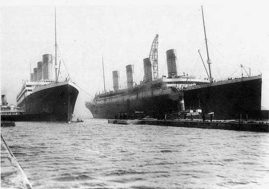 El Titanic y su gemelo el Olympic en Belfast