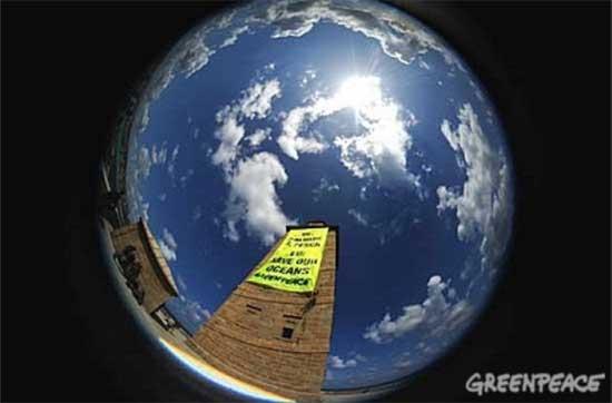 Torre Hercules, Greenpece salvad la pesca