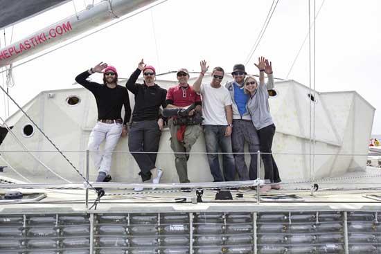 tripulación del Plastiki