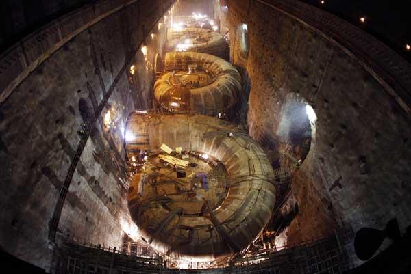 turbinas de la presa de las Tres Gargantas, China