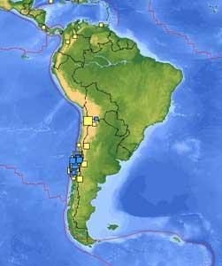 últimos terremotos Sudamerica