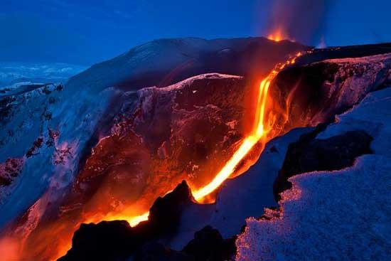 volcán Eyjafjallajoekull, barranco