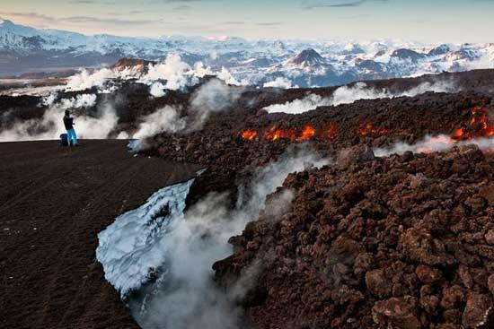 volcán Eyjafjallajoekull, fuego y hielo