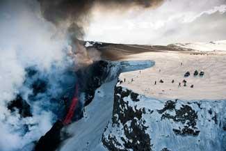 volcán Eyjafjallajoekull, turistas