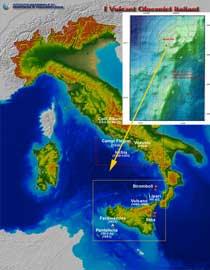 volcanes activos Italia, detalle Marsili