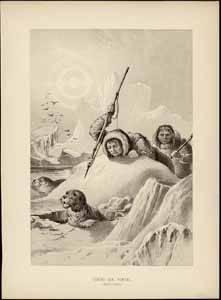 inuit cazando focas
