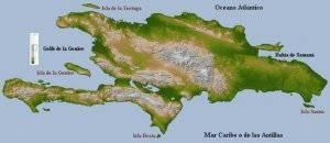 Isla de Sto.Domingo, al noroeste en peq. La Tortuga