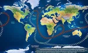mapa corrientes marinas, lilypad