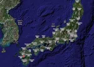 Minamata, Google maps