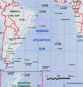 Océano Atlántico Sur