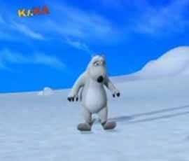 El Oso Polar Esquiando
