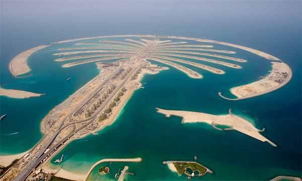 palm jumeirah, Dubai en marzo 2007
