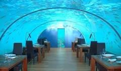 Hilton Maldivas restaurante submarino,  Isla de Rangali