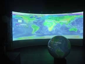 Magic Planet : Showroom sistema audiovisual esférico (Exposición
