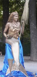 Sirena en el Retiro, Madrid