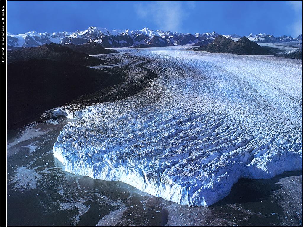 Prince William El R 225 Pido Retroceso Del Glaciar Columbia En Alaska Vista