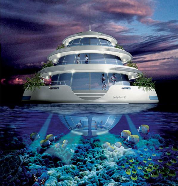 Futurista complejo hotelero semi sumergido en qatar for Hotel bajo el agua precio