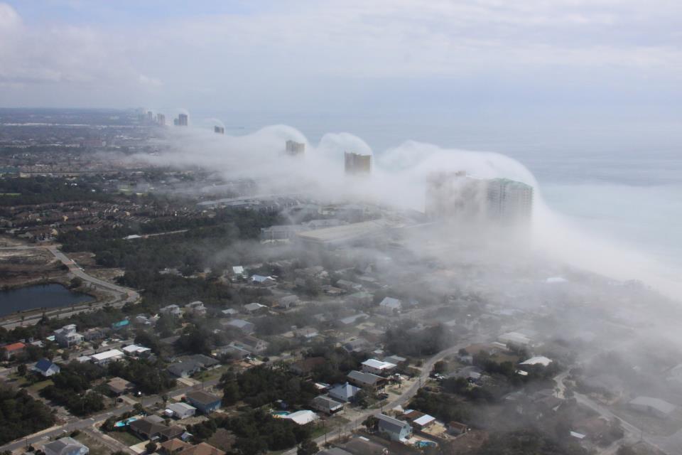 Tsunamis de nubes en Florida