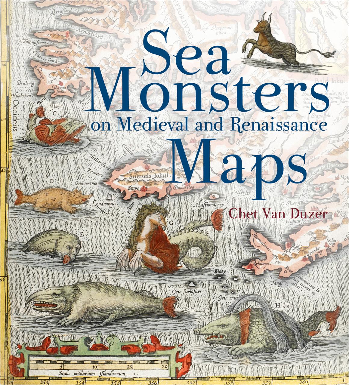 Modern Book Cover Map : La evolución de los monstruos marinos en mapas