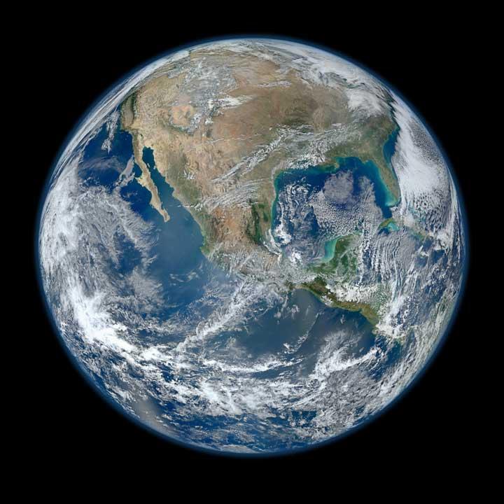 NASA Blue Marble 2012