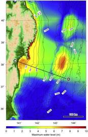 El tsunami de Japón formó enormes dunas submarinas Altura-maxima-olas-tsunami-sendai