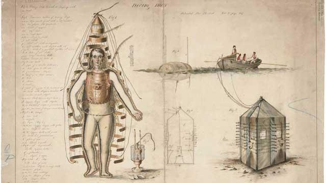 concepto de traje de Chauncy Hall, 1810
