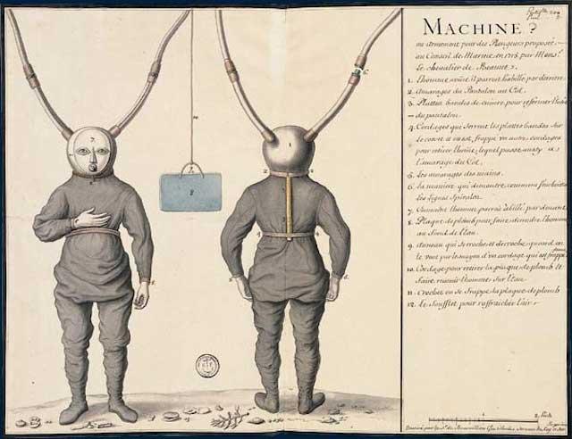 traje de buceo de Pierre Remy de Beauve