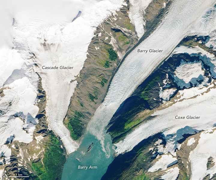 Glaciar Barry, visto en septiembre de 2013.
