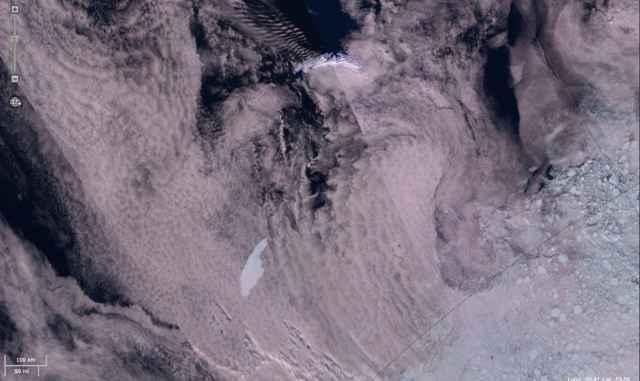 iceberg A68a desde satélite