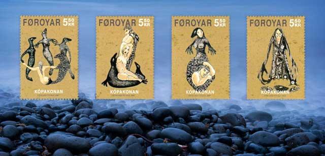 sellos con Selkies de las Islas Feroe